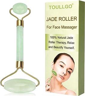 Jade Roller, Jade Roller For Face, Jade Facial Roller, Anti Aging Jade roller Therapy 100% Natural jade facial roller double Neck Healing Slimming Massager