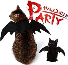 NACOCO Pet Halloween Bat Wings Costume Cool Batman Design Party Clothes Cat Small Dog