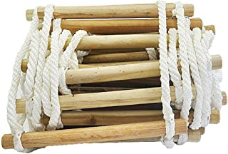 GJF Escalera de Cuerda de Escape, Escalera de Cuerda de poliéster para casa en el árbol Escalera de Cuerda de formación, Mantenimiento de Equipos de Fondo de Pozo Edificio de Alto escape-White-5m