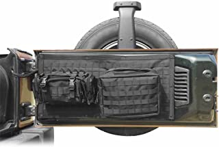Bosmutus Tailgate Bag Case Cover for 2007-2017 Jeep Wrangler JK Tool Organizer Pockets