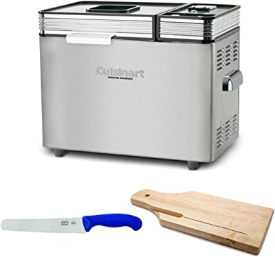 Cuisinart CBK-200 2-LB Convection Automatic Bread Maker with Bread Knife & Board