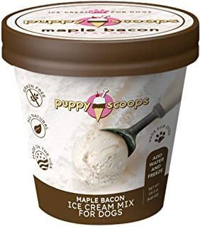 Best Puppy Scoops Ice Cream Mix for Dogs: Maple Bacon - Add Water and Freeze at Home! Review