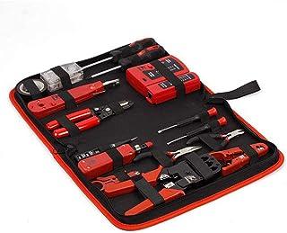 16 in 1 Netwerk Tool Kit Set, Krimpstripper Cutter Tool Kit Cat5 Cat6 Kabel Tester En 8P8C 4P4C 6P6C Connectors LKWK