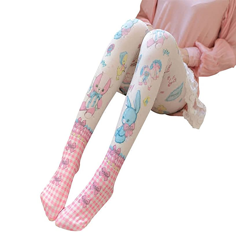Pantyhose for Women Girls BLESSI Ladies Hosiery Tights with Velvet Rabbit Pattern(M, 1 Pack)