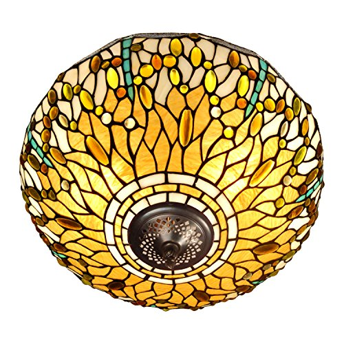 Arte Dal Mondo Deckenleuchte dragonfly im glas tiffany-stil handwerk PD16511