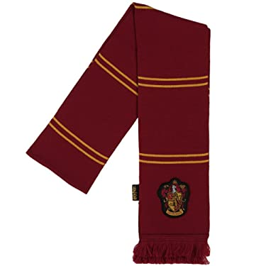 Harry Potter Gryffindor House Color and Crest Striped Acrylic Scarf