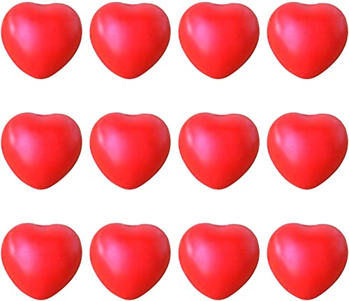 2021 RiamxwR 12 Pack Stress Balls Fidget Toy Squeeze Grab Snap Hand Toy Stress Relief Toy for Kids and Adults Heart Shaped - Fidget outlet online sale Sensory Toys for Autistic, ADHD, Anxiety - new arrival Fun Party Favors outlet online sale
