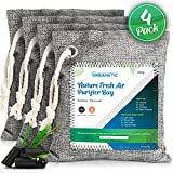 Activated Charcoal Air Purifying Bag - Nature Fresh Bamboo Air Purifier Bags, Odor Eliminators For Home, Closet Odor Absorber, Car Air Freshener, Deodorizer For Rooms Naturefresh Absorbers