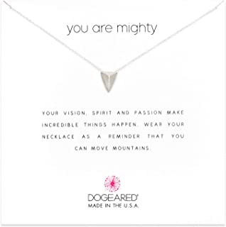 Dogeared You are Mighty Pyramid Necklace, 16