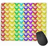 4 Chocolates envueltos en Papel de Aluminio Corazones San Valentín Amor Postres Dulces Dulces Comida Colorido Arco Iris de Colores Alfombrilla de ratón