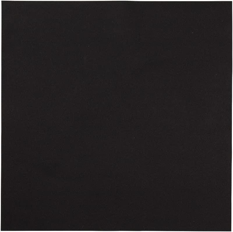 Hoffmaster 125070 Linen Like Color In Depth Flat Pack Napkin 16 Length X 16 Width Black Case Of 500