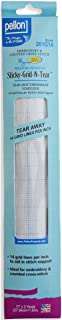 Pellon Sticky-Grid-N-Tear for Embroidery and Counted Cross Stitch, 11 by 2-Yard, White