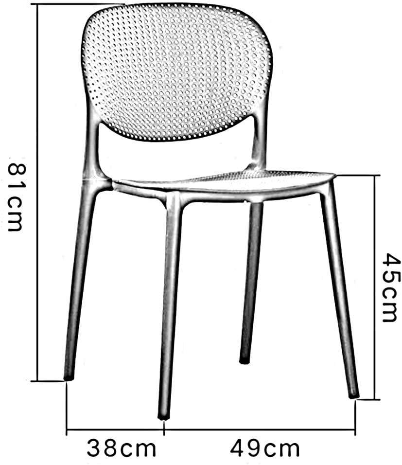 DSHUJC Chaises Chaises de Bureau Salon Salle à Manger Cuisine Meubles en Plastique Couleurs Multiples Durable (Couleur: Red) Black