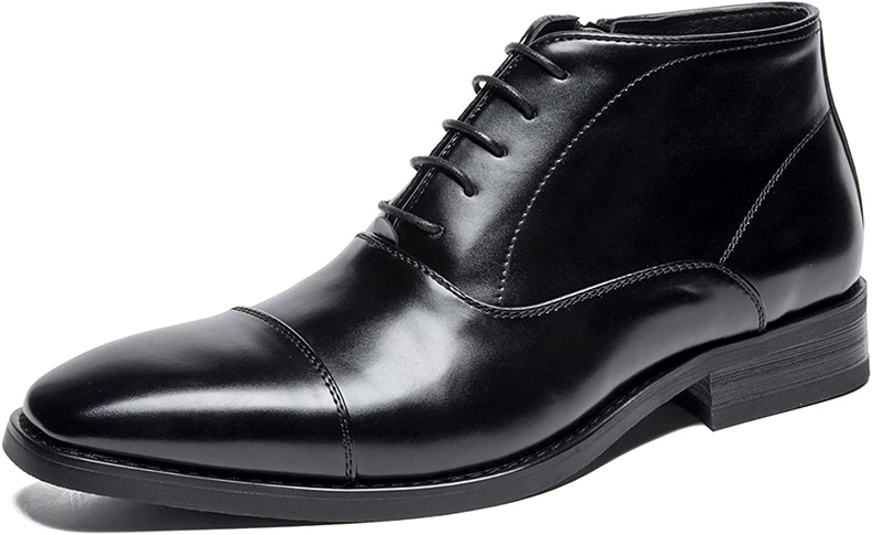 Men's Oxford Dress Casual Shoe Classic Formal Toe Oxfords Leather Men Comfortable Business Shoes 901H