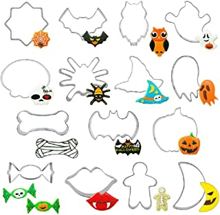 Cookie Cutters Set, 15 Pieces Medium Size Halloween Cookie Cutters Set for Kitchen Utensils, Baking Tools for Handmaking Biscuits, Stainless Steel Mold Cutter