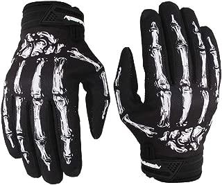 Cycling Gloves Full-Finger Motocross Gloves Skeleton Bones Motorcycle Gloves for Men Women Non-Slip and Resistance to Abrasion for Biking Climbing Hiking