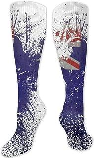 Calcetines de poliéster y algodón por encima de la rodilla, retro, unisex, muslo, botas de cosplay, calcetines largos para deportes, gimnasio, yoga, águilas, fondo blanco