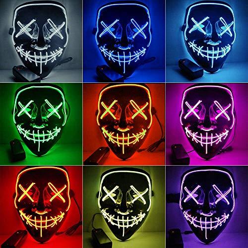 ATIN Máscara de Halloween, máscara de...