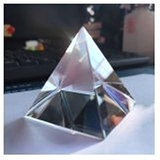 WHHHuan 1pc 40mm Pyramide Arc-en-Ciel Prisme Verre Cristal Hauteur rectangulaire Pyramide polyèdre popularisation Science ...