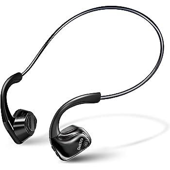 【2020進化版 Bluetooth5.0】 Bluetooth イヤホン 骨伝導 ヘッドホン 高音質 耳が疲れない マイク内蔵 耳掛け式 ヘッドホン 自動ペアリング 開放型 スポーツ イヤホン 超軽量 ハンズフリー 防水防汗 ワイヤレス ヘッドセット iPhone&Android適用 DeliToo (ブラック)