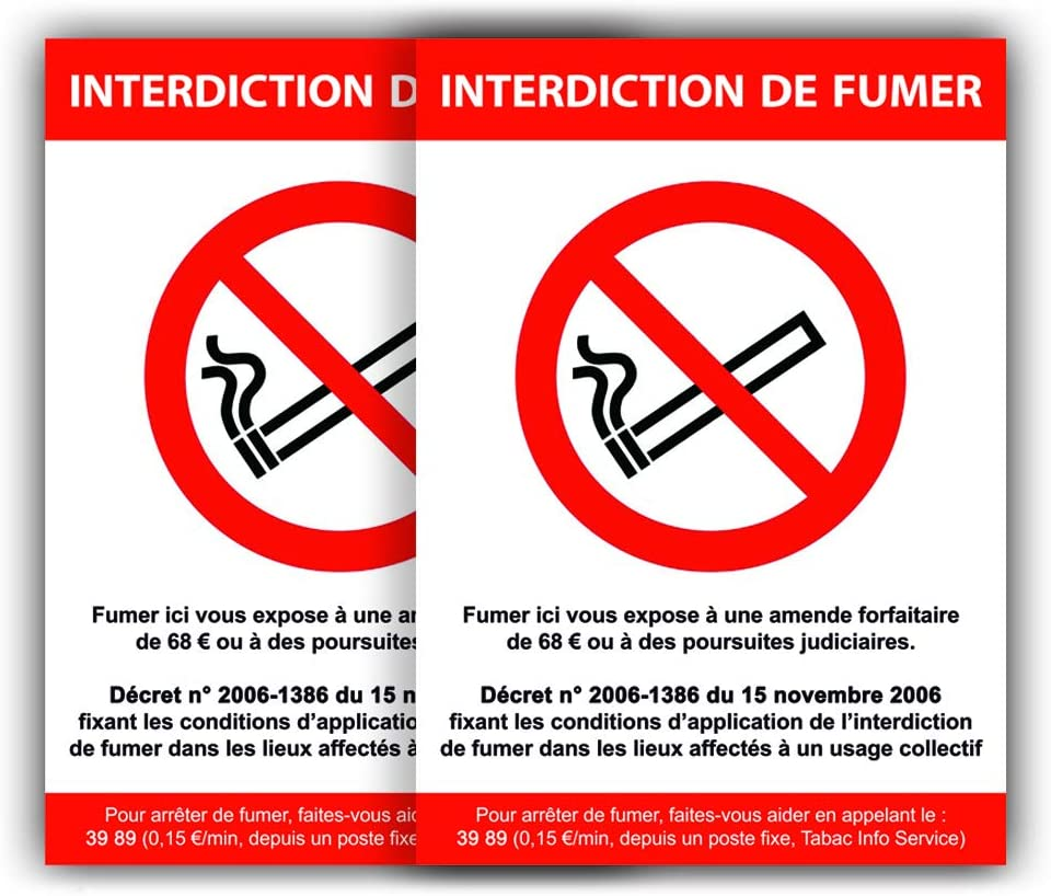 Ne pas fumer dans les toilettes Autoadhésif Autocollant Vinyle Signe 150 mm x 50 mm proh 00024