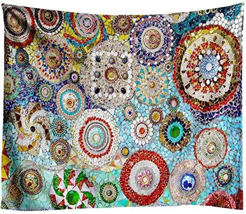 Yhjdcc Tapiz Tapices de Pared Tapiz Indio Mandala Tapiz 3D Jade Decoraci¨®n para el hogar Fondo de Sala de Estar Alfombra de Pared pa?o Manta Hippie 150cm x 200 cm