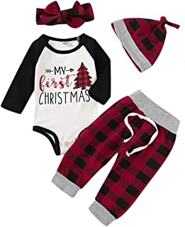 boy and girl matching christmas outfits