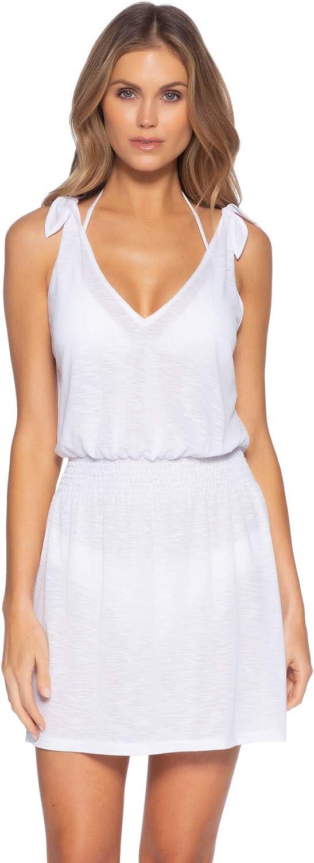 Becca by Rebecca Virtue Women's Breezy Basics Plunge V-Neck Dress Swim Cover Up