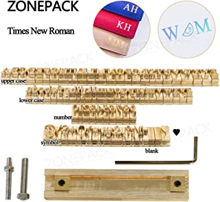 ZONEPACK Copper Brass Stamping Flexible Letters Numbers Alphabets Symbols Characters Molds CNC Engraving Molds for Hot Foil Stamping Machine (Time New Roman)