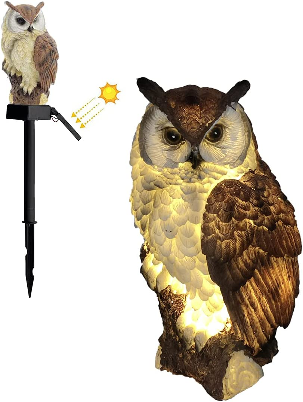 Solar Garden San Diego Mall Lawn Light Led Owl Landsca Outdoor Waterproof Outlet ☆ Free Shipping Shape