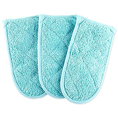 DII Everyday Kitchen Basic Terry Pan Handle (Set of 3), Aqua