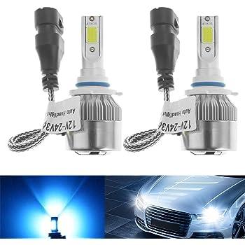 LED Kit G5 80W 9012 HIR2 5000K White Two Bulbs Head Light Dual Beam Replacement