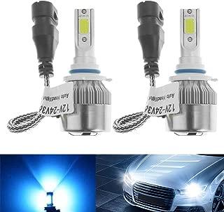 9012 HIR2 LED Headlight Bulbs High Low Beam 55W 8000LM 8000K Ice Blue (Pack of 2)