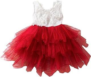 66289b7bb Vestido de Encaje con Lentejuelas de Niña Vestido de Fiesta Festido de  Bautizo Vestido de Arco