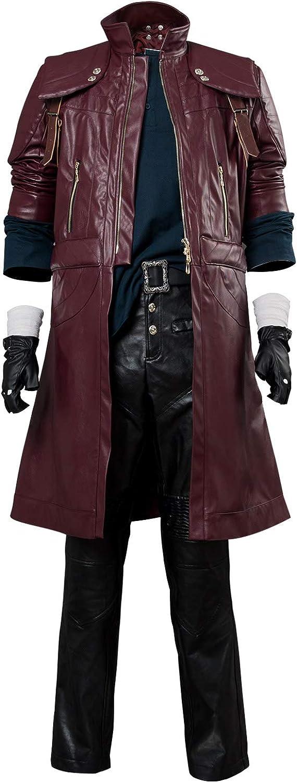 Karnestore Devil May Cry V DMC5 Dante Aged Outfit Leather Coat Cosplay Kostüm Herren L B07KC44PH9  Spaß für Kinder  | Heißer Verkauf