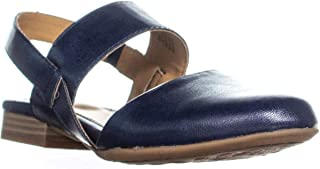 Womens Annette Pointed Toe Casual Slingback Sandals, Navy, Size 8.5