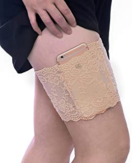 Women Lace Thigh Holster Non Slip Concealed Carry Garter Holster Mobile Phone Bag Small Charge Purse Security Pockets