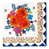 Talking Tables Inspired by India - Confezione da 20 tovaglioli con motivo floreale, 33 cm, spiegati, spezie, FLRAL NPKINS