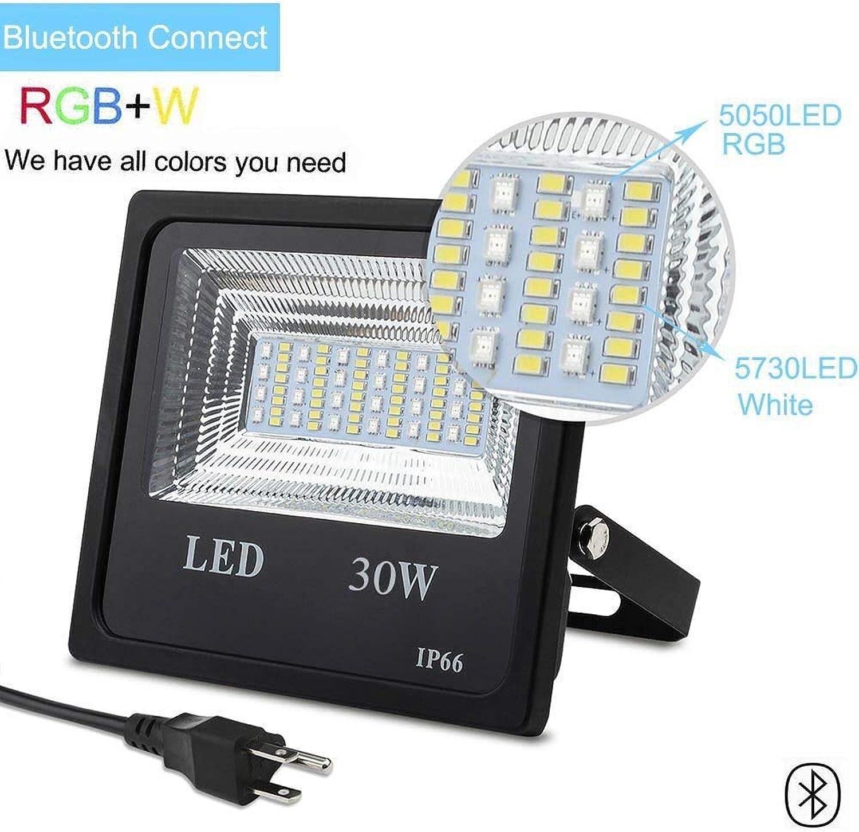 SHELLTB LED-Flutlicht für den Auenbereich, Farbwechsel RGB-Flutlicht-Telefon-Fernbedienung, 120 RGB-Farben, warmwei bis Tageslicht abstimmbar, IP66 wasserdicht 30W