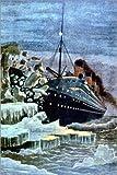 Poster 40 x 60 cm: SS Titanic kollidiert mit einem Eisberg