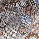 Casa Moro Marokkanische Keramikfliesen Chakib Patchwork Fliesen 32,8x28,5 cm sechseckig bunt aus Feinsteinzeug   Schöne orientalische Dekoration für Bad Flur Küche & Küchenrückwand   FL6020