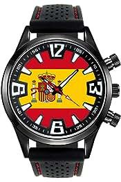 Amazon.es: pulseras bandera españa - Relojes de pulsera / Hombre: Relojes