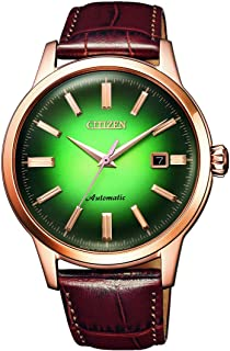 CITIZEN Mens Mechanical Watch, Analog Display and Leather Strap - NK0002-14W