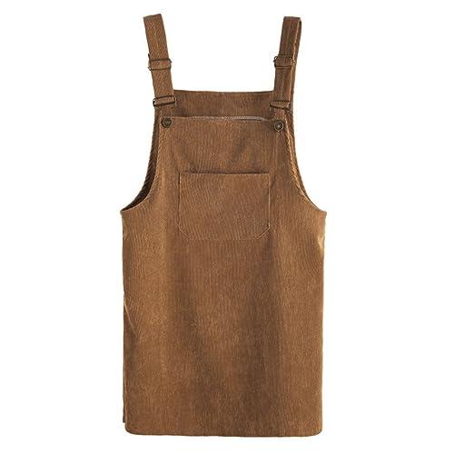 219f8aece0 MAKEMECHIC Women s Bid Strap Pocket Dungaree Mini Overall Dress