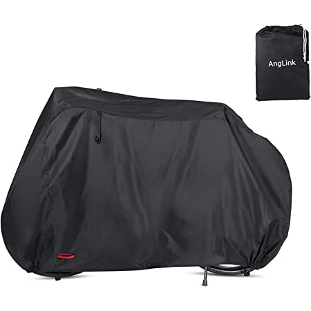 Heavy Duty Motorcycle Cover Bike Cover for Outdoor Bicycle Storage Outdoor Waterproof Bicycle Covers Rain Sun UV Dust Wind Proof Outdoor Bike Cover