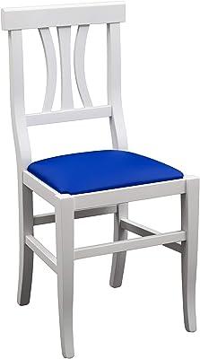 White loft, Set di 2 Sedie, Legno, Bianco, 43x42x88 cm