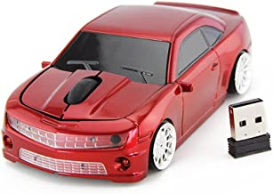 FASBEL for Chevrolet Camaro Sports Car Mouse Wireless Mice Computer Laptop PC Optical Mouse (Red)
