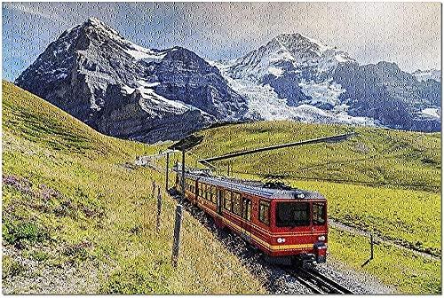 AMTTGOYY Tren turístico eléctrico Oberland bernés Suiza Premium 1000 Piezas Rompecabezas para...