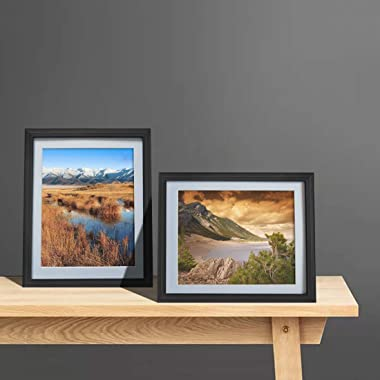 Giftgarden 8x10 Picture Frame Black with Mat, Matted to 8 x 10' Photo for Wall or Tabletop Decor, Set of 4