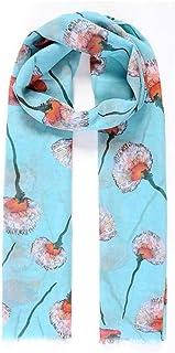 Intrigue Womens/Ladies Fringed Floral Digital Print Scarf